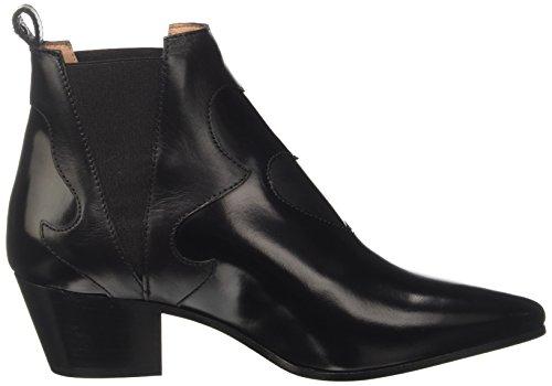 Twin-Set Cs7pkc, Bottes style western femme Noir