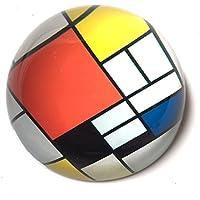 Mondrian–Composición con gran avión–rojo pisapapeles de cristal