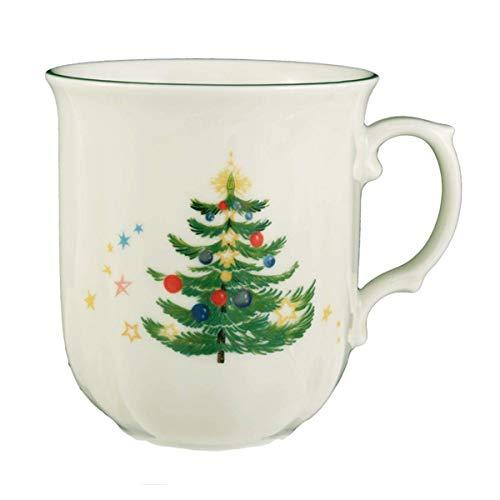 Seltmann Weiden 001.300499 Marieluise Weihnachten Becher mit Henkel 0,27 L, Grün/Bunt