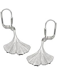 Ginkgo Blatt Ohrhänger groß Sterlingsilber Ohrhänger Silber 925 als Ginkgoblatt