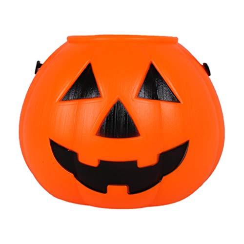 Kürbis Eimer - Amosfun Halloween Pumpkin Bucket Tragbare Kürbis