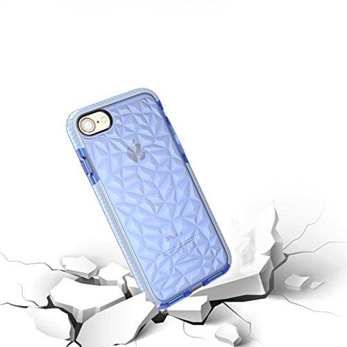 Mobiltelefonhülle - Für iPhone 6 Plus & 6s Plus Diamond Texture TPU Dropproof Schutzmaßnahmen zurück Fall Fall ( Farbe : Schwarz ) Blau