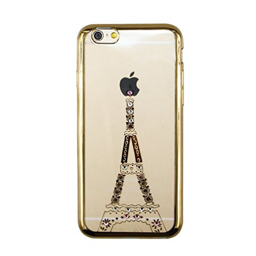 iPhone 6S Hülle Silicone,iPhone 6S Hülle Glitzer,iPhone 6 Hülle Rosa,EMAXELERS iPhone 6S Plating Gold TPU Bumper Case Soft Silikon Gel Schutzhülle Hülle für iPhone 6 4,7 Zoll,iPhone 6S Hülle Glitzer D C TPU 6