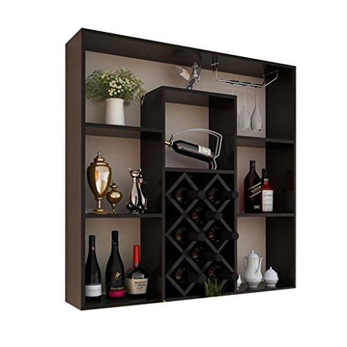 Aluk- moderno stile minimalista appeso a parete cremagliera del vino armadietto del vino bar di casa appeso a parete cremagliera creativo reticolo 100 cm * 23 cm * 100 cm ( colore : #3 )