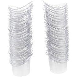 Sharplace 100 unidades Copas de 5ml de Plástico Salón de Belleza Cuidado de Ojos