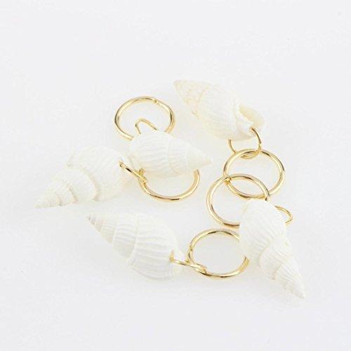20pcs Hip-Hop Braid Haarspange Upxiang Mode Frauen Gold Ring Haarnadel Haar DIY Zubehör (B) (Manschette-band Französisch)