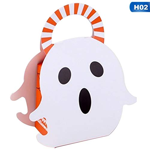 oration Kürbis Geschenkbox Süßigkeiten Geschenkbeutel Ghost Cookie Geschenkbox Container Für Kinder Kinder Halloween Box Supplies ()