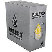 Bolero Drinks Gusto The al Limone (Ice Tea) - 24 bustine da 9 grammi - Preparato istantaneo per Bevande con Stevia e Vitamina C e Senza Zucchero