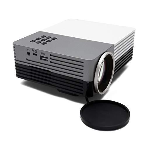 LULUKEKE Heimprojektor, HD Mini 1080P, GM50 Wurfprojektoren, tragbares Videoprojektor, Büroprojektor, AV-TV-VGA-USB-HDMI-Schnittstelle