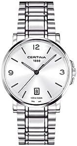 Certina C017.410.11.037.00 - Reloj analógico de cuarzo para hombre con correa de acero inoxidable, color gris de Certina