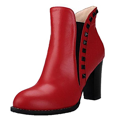 Laruise , Bottes Chelsea femme Rouge