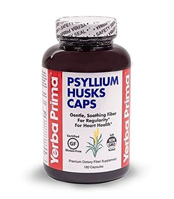 Yerba Prima Psyllium Husks Caps 180 Capsules from Yerba Prima
