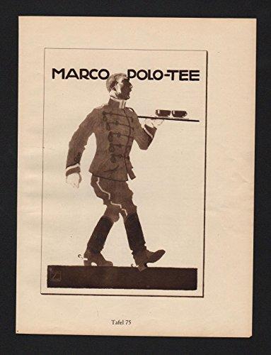 Ludwig Hohlwein Reklame Werbung Plakat Marco Polo Tee Rotes Kreuz Sammlung
