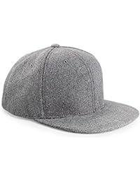 Melton Wool Snapback Baseball Cap