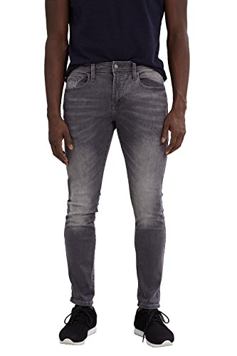 edc by ESPRIT Herren Jeanshose Grau (Grey Light Wash 923)