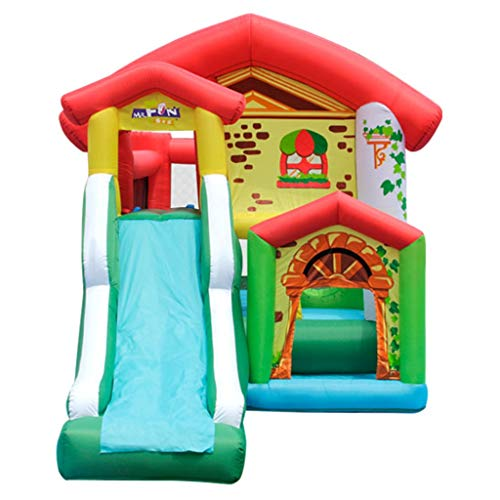 Bouncy Castles Sports Toys Children's Indoor Inflatable Castle Outdoor Inflatable Slide Indoor Small Trampoline Household Inflatable Toys Inflatable Children's House Summer Children's Playground