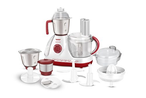 Maharaja Whiteline Supremo 600-watt Food Processor (red And White)