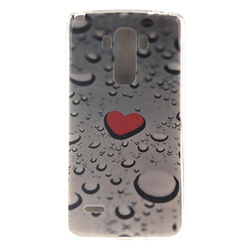 Anlike LG G4 Stylus Hülle, TPU Silikon Gel Schutzhülle / Schutz Hülle / Handy Hülle / Handytasche / Silikon Hülle Case / Flexibel Handy Tasche Cover für LG G4 Stylus / G Stylo LS770 (5,7 Zoll) - Herz Rot