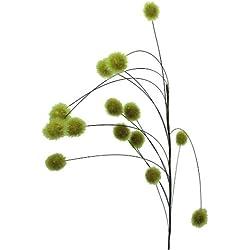 Kunstpflanze Klettenzweig 113cm in HELLGRÜN-51