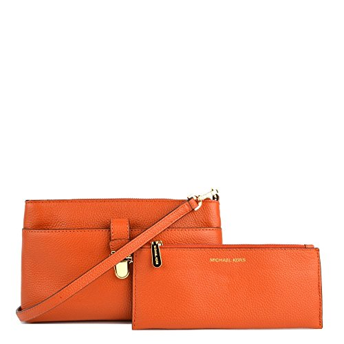 MICHAEL by Michael Kors Mercer Arancione Medium Crossbody Borsa Arancione