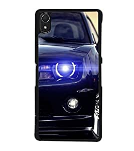 HiFi High Glossy Designer Phone Back Case Cover Sony Xperia Z2 (5.2 Inches) ( Half Face Car Fast Cars )