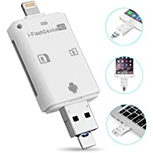 hltd 3-in-1 USB i-Flash Drive Lightning de alta velocidad Micro SD SDHC TF lector de tarjetas MEMORY STICK PEN DRIVE para iphone 5/6/6S/7/iPad/iPod/iTouch/Mac/PC