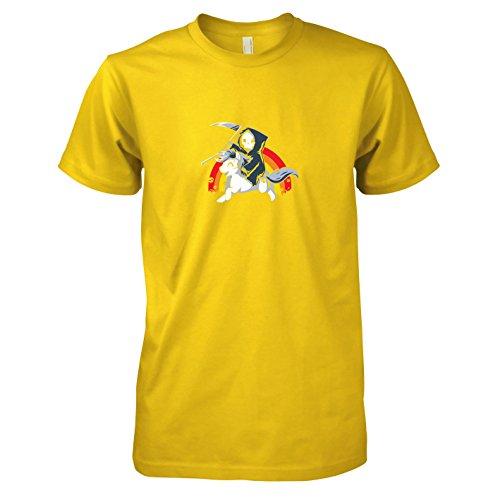 (TEXLAB - Todes Pony - Herren T-Shirt, Größe XXL, gelb)