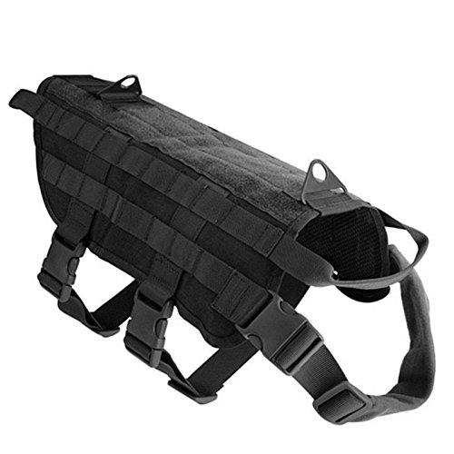 Polizei-weste Hund, (zantec Tactical Hund Training Weste groß Hundegeschirr schwarz Nylon Polizei Hund Kleidung mit Griff)