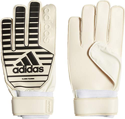 adidas Erwachsene Classic Training Torwarthandschuhe, White/Black, 8 (Weiße Adidas Fußball Handschuhe)
