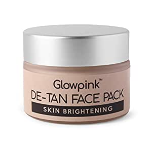 Glowpink DeTan Face Pack Skin Brightening Clay Face Mask For Glowing Skin,Tan Removal, Oil Control, Acne & Fairness, For Women & Men - 50g