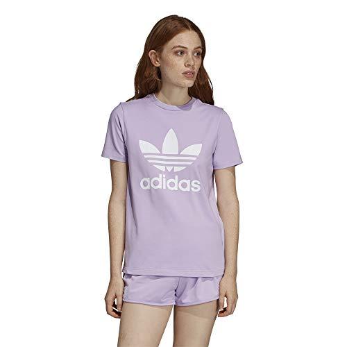 adidas Trefoil Tee T-Shirt, Damen XXXL violett (Purple Glow)
