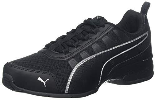 PUMA Unisex-Erwachsene Leader Vt Mesh Sneaker, Schwarz (Puma Black-Puma Silver 7), 44 EU (9.5 UK)