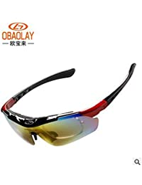 79c8f05180 Red   UV400 Cycling Sunglasses Polarized Mens Bike Eyewear Glasses Goggle  Sport Fishing Drving Bicycle Sunglasses