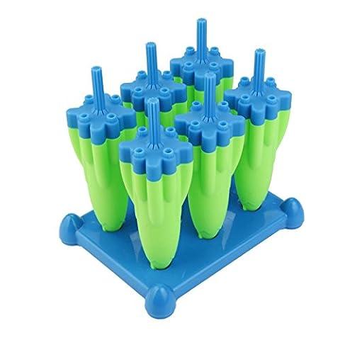 Bluestercool Moule de bac à cubes de glace de nouveauté Rocket Ice Lattice (Bleu)