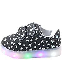 Feicuan Child Boys Girls LED Intermitente Zapatos con Luces zapatilla de deporte