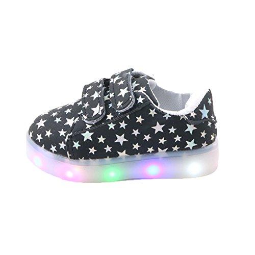 Feicuan Kinder Junge Mädchen LED Schuhe Aufleuchten Flashing Sports (Herren Schuhe Aufleuchten)