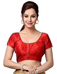 Studio shringaar poly raw silk blouse.