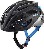 Alpina Unisex– Erwachsene VALPAROLA Fahrradhelm, Black-Silver-Blue, 51-56 cm