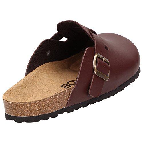 Bows® Shoes-heinz- Pantofole Da Uomo Zoccoli Pantofole Pantofole Push-pull Pantofole Slipper Sottopiede In Pelle Antiscivolo Marrone