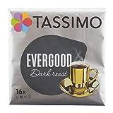 Tassimo Evergood Dark Roast, Kaffee, Gemahlener Röstkaffee, Kaffeekapsel, T-Disc, 80 Portionen