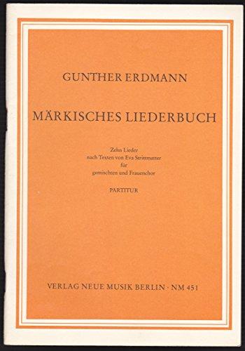 Pdf Märkisches Liederbuch Partitur Zehn Lieder Nach Texten Von