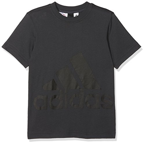 adidas Jungen Big Logo T-Shirt, Carbon/Black, 116