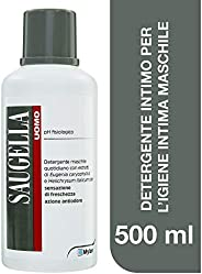 Saugella Uomo Detergente Intimo Quotidiano Maschile Antiodore A Ph Fisiologico Per Parti Intime - 500 Ml
