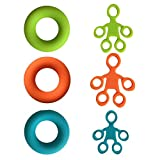 iBàste 3 Stück/Pack Finger Keilrahmen aus Silikon Tragbarer Fitness Fingerstrecker Set