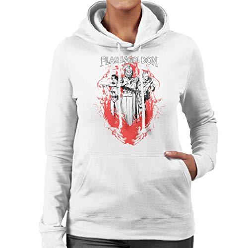 Flash Gordon Flame Trio Women's Hooded Sweatshirt -