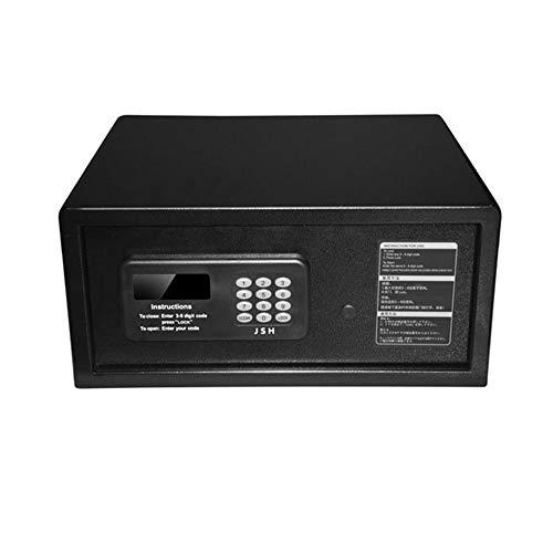 GIGIEroch-office Safe Zimmer Elektronischer Passwort-Safe Hotel Spezieller Safe Passwort-Safe Kleiner Haushaltsschrank (Farbe : Schwarz, Größe : 42x37x20cm)