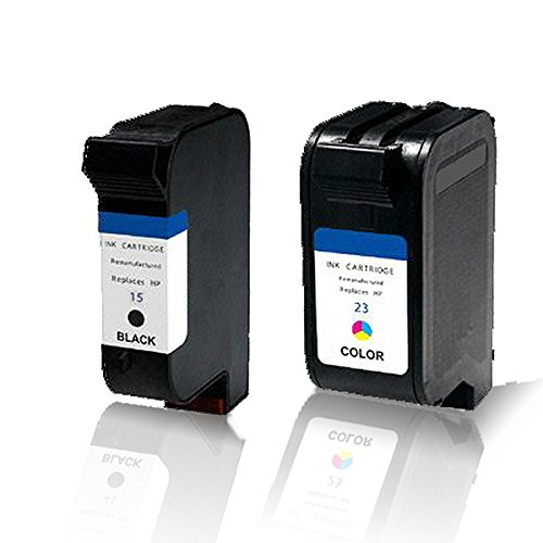 Preisvergleich Produktbild Print-Klex 2x kompatible Tintenpatronen für HP DeskJet 880 C DeskJet 882 C DeskJet 890 C DeskJet 890 CSE DeskJet 890 CXI DeskJet 895 CSE DeskJet 895 CXI 15 + 23 Black Color Sparset C6615DE C1823DE C6615NE
