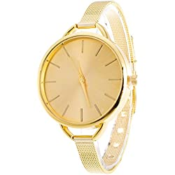 Beetest-EU-Women Lady Simple Fashion Quartz Wrist Watch Wristwatch with Slim Stainless Band Gold