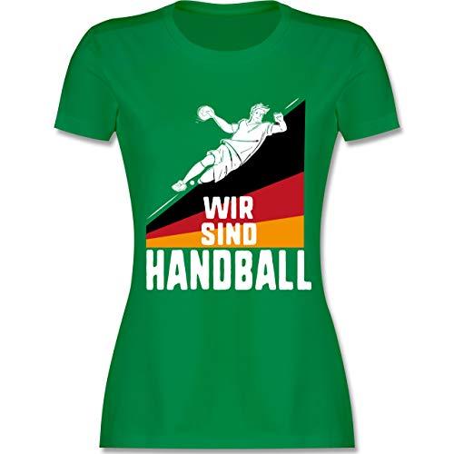 Handball WM 2019 - Wir sind Handball! Deutschland - S - Grün - L191 - Damen Tshirt und Frauen T-Shirt