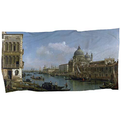 My Custom Style Handtuch/Mikrofaser Strandtuch Künstler-Kollektion Cotone 100x50 Vista Canal Grande -